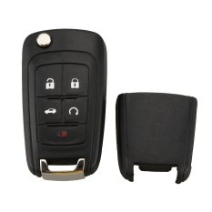 5 Buttons Flip Folding Key Shell Case Entry Remote Key Protection Cover