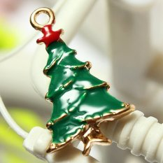 5pcs Gold Enamel Christmas Xmas Gifts Snowflake Charm Pendants Jewelry Findings Large Christmas Tree - Intl