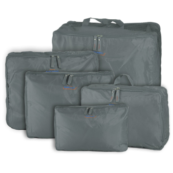 5Pcs Travel Luggage Storage Bag Clothes Organizer Handbag Grey