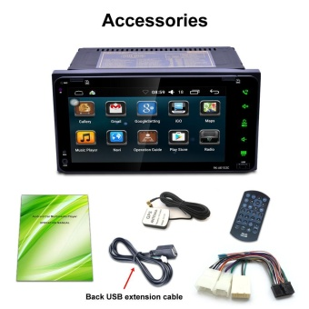 7 2Din Stereo Mobil Android MP5 Player Bluetooth Touch Radio AM/FM/RDS/GPS/USB/ SD-Intl