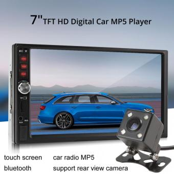 7012B Bluetooth 7 Inci TFT Layar Audio Mobil Stereo MP5 Player 12 V Otomatis 2 DIN