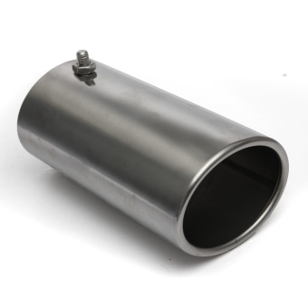 70mm Exhaust Pipe Tip Chrome Car Straight Tail End Trim Racing Sports Muffler