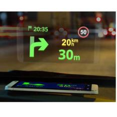 8 Inch HUD Kit for Smartphone HP Handphone Android Iphone Kaca Film Mobil Dashboard Mat LCD Display GPS Map