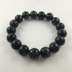A-KHA Gelang Kesehatan Black Jade 12mm (Ukuran L), 100% Batu Alam