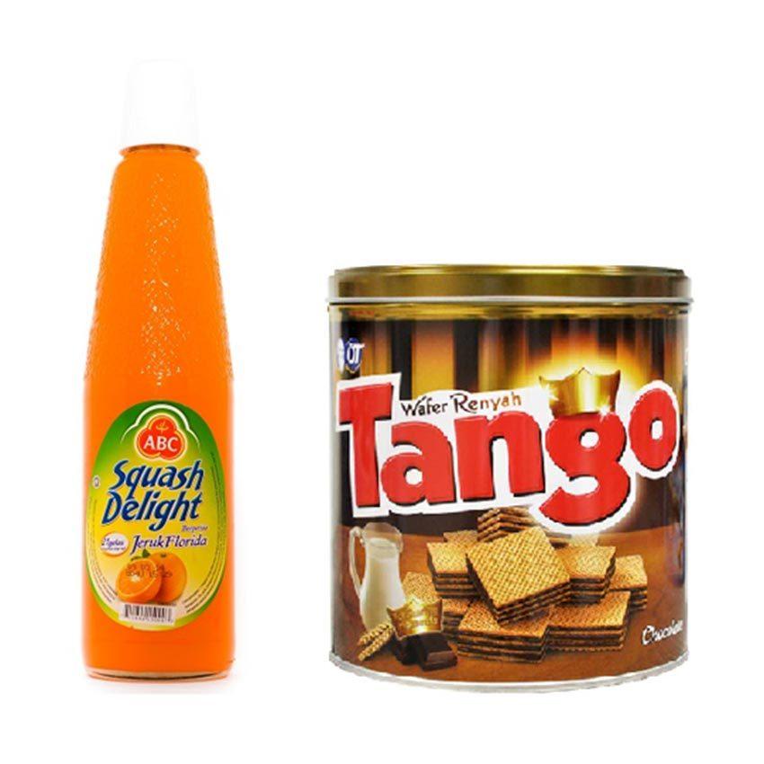 ABC Sirup Squash Orange - 525ml + Tango Chocolate Kaleng - 350 gr