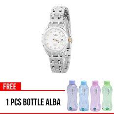Alba AH7G05X1 - Jam Tangan Wanita - Tali Logam - Analog Quartz - Silver