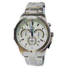 Alba AU2077X1 - Jam Tangan Pria - Putih Silver - Tali Rantai