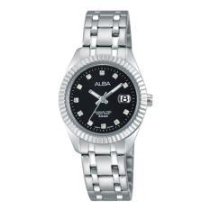 Alba Fashion Jam Tangan Wanita - Tali Stainless Steel - Silver - AH7G07X1