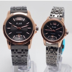 Alba - Jam tangan Couple - Stainless steal - Design Exclusive - Strap Rantai