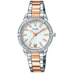 ALBA - Jam Tangan Wanita - Silver Kombinasi Rosegold - Stainless Steel - AG8H03