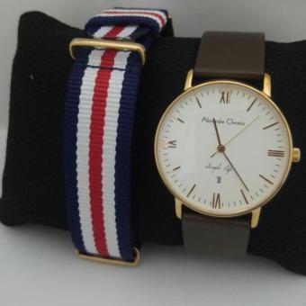 Alexandre Christie 8420 MDLRGSL Jam Tangan Pria Original 2 Tali - Leather  Strap - Multicolor d1dd07da10