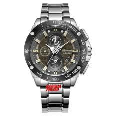Alexandre Christie - AC6463M - Jam Tangan Pria Chrono - Stainless Steel - Silver Hitam