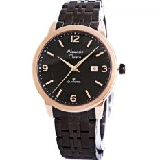 Alexandre Christie Classic Jam Tangan Pria - Black-Rosegold - Stainless Steel - AC 8424 MBRG