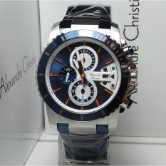 Alexandre Christie Jam Tangan Pria Alexandre Christie AC6455MC Chronograph Silver Blue Stainless Steel