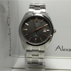 Alexandre Christie Jam Tangan Pria Alexandre Christie AC8514MD Classic Silver Stainless Steel Dial Black List Rosegold