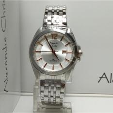 Alexandre Christie Jam Tangan Wanita Alexandre Christie AC8455LD Classic Silver Stainless Steel List Rosegold