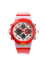 Alike AK14102 Waterproof Children's Dual Time Sports LED Digital Quartz Wrist Watch with Date / Alarm / Stopwatch Red