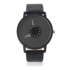 Allwin Black White Waterproof New Design Leather Strap Lovers Table Wristwatch