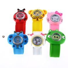 Allwin Fashion Animal Slap Snap On Silicone Wrist Watch Boys Girls Children Kids
