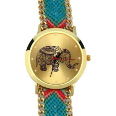 Allwin New Colorful Women's Geneva Ethnic Braided Quartz Chain Bracelet Wrist Watch 3