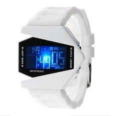 Allwin New Cool Men's Oversized Light Digital Sports Quartz Rubber Wrist Watches White