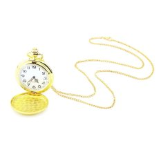 Allwin New Retro Vintage Antique Quartz Necklace Pendant Pocket Watch 3 Colors Gold