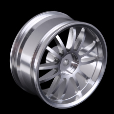 Aluminum 6-spoke Silver Machine Wheel Rim for 1/10 RC On-Road Racing Car - intl