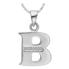 Amart kalung liontin huruf A sampai Z berlapis emas putih 18 K (Silver B)