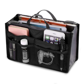 Amart penyimpan portabel travel tas Organiser multi fungsi tas kasual (hitam) - International
