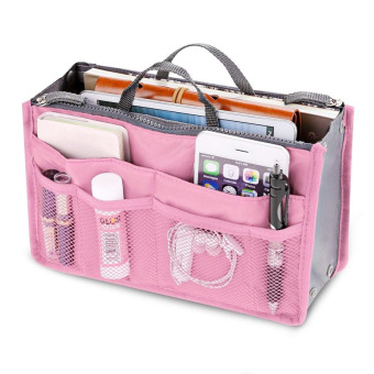 Amart Portable Travel Storage Organizer Bags Multi-function Casual Handbag(Pink) - intl