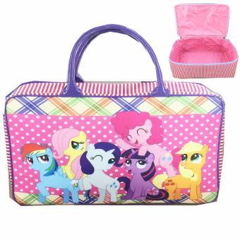 BGC Travel Bag Kanvas My Little Pony Pinkie Pie Polkadot - Purple Rainbow