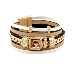 2015 European and American Style Fashion Charm Product, Rhinestone Crystal Multilayer Leather Bracelet Fashion Jewelry Hot Sale (Intl)