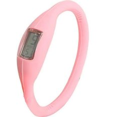 Anion Negative Ion Silicone Bracelet Sports Watch (Pink)