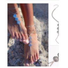 Anneui - GG0215 - Gelang Kaki Bohemian India Bollywood Model Sambung Cincin