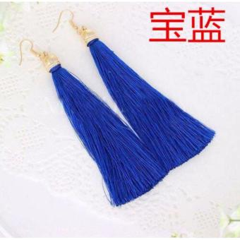 Anting Wanita Tassel Type 005 - Biru