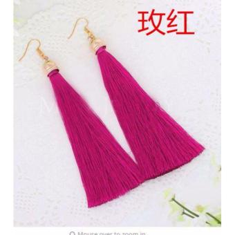 Anting Wanita Tassel Type 005 - Pink