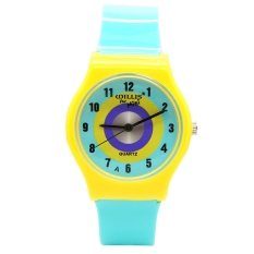 AOXIDNA Candy Light Blue Dial Jam Tangan Multi-Color Silicone Ladies Watch