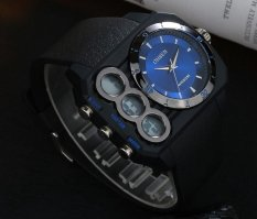 AOXINDA Mens Analog And Digital Dual Time Big Watch With Light