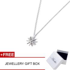 Arche Descendant Of The Sun White Pendant Necklace Trendy Fashion Designer Jewellery (White)