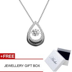 Arche Tear Of Angel Dancing Pendant White Gold Plated 925 Silver Short Necklace Exquisite Elegant Design Jewellery