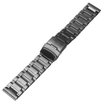 Audew 22mm Stainless Steel Watch Band Strap Double Lock Flip Bracelet Straight End -US NEW - intl