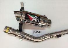 Austin Racing Knalpot Racing Gp2R Titanium Can Full System Untuk Yamaha R150 / Sabre