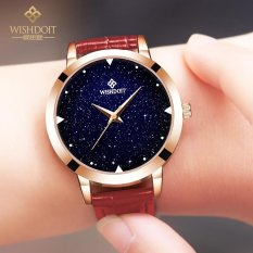 Authentic watch lady fashion trend student waterproof belt quartz watch simple leisure Star Watch - intl