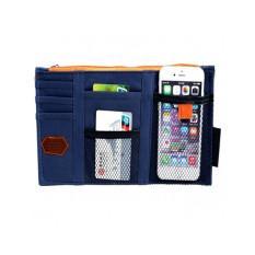 Auto Car Sun Visor Organizer Car Sun Visor Storage Bag Card CD Holder Pouch Bag Beige