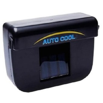 Auto Cool Solar Powered Car Air Ventilation System Hitam Lazada Indonesia