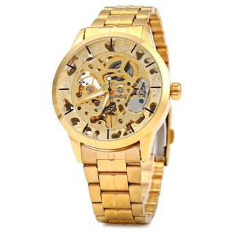 Automatic Mechanical Movement Hollow Out Men Watch Stainless Steel Band