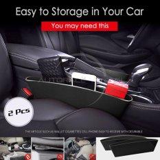 Autorace 2pcs Tray Samping Kursi Mobil Multifungsi/Organizer/catch dady - Black