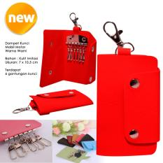 Autorace Dompet / Gantungan Kunci Mobil Motor Polos - Red