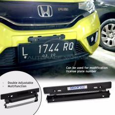 Autorace Dudukan/Tatakan Plat Nomor Carbon Mobil/ Breket/Braket/Bracket JDM Sparco - Black