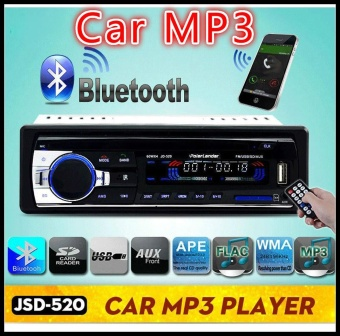 Autoradio Mobil Radio 12 V Bluetooth V2.0 JSD520 Mobil Stereo Di-dash 1 Din FM AUX Input Receiver SD USB MP3 MMC WMA Mobil Radio Player-Intl
